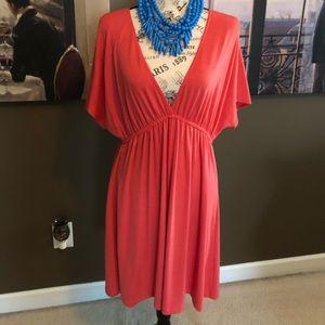 Coral light summer dress